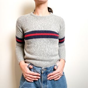 Brandy Melville Knit Crop Crewneck- OS